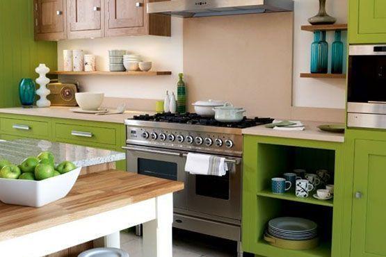 cozinha madeira color blocking Tendências em decoração para 2012