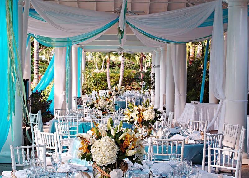 "Foto: Reprodução / <a href=""http://www.bestdestinationwedding.com/topic/1538-tiffany-themed-wedding/page-3"" target=""_blank"">Best Destination Wedding</a>"