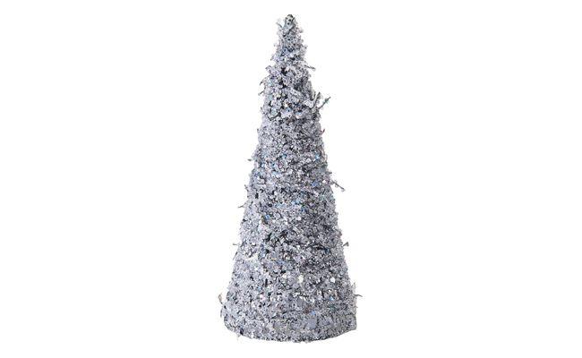 Joulukuusi hopea pöytä R $ 59,90 vuonna Shoptime