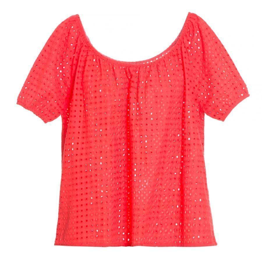 "Top vermelho com decote ombro a ombro Valen por R$369,60 na <a href=""http://www.stylemarket.com.br/top-frida-pop-tomate-valen---4821"" target=""blank_"">Style Market</a>"
