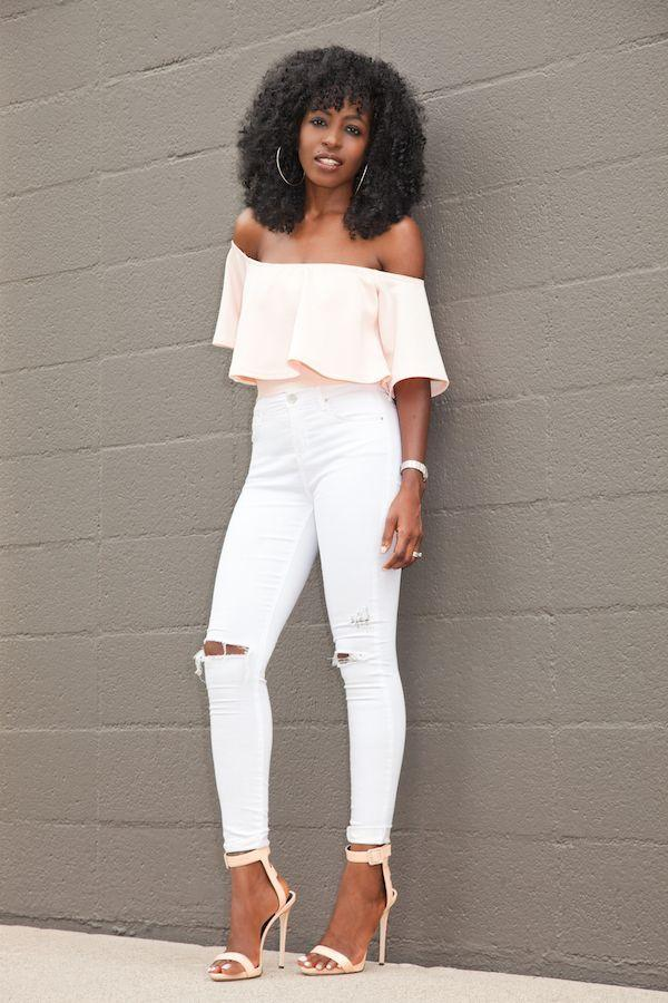 "Foto: Reprodução / <a href=""http://stylepantry.com/2015/07/23/crop-swing-top-ripped-skinny-jeans/"" target=""_blank"">Style Pantry</a>"