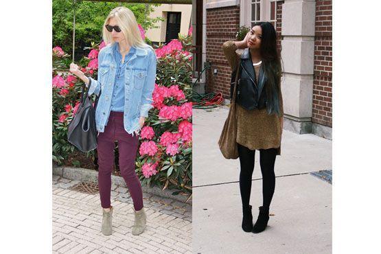 A bota pode ser usada tanto em looks mais despojados, com jeans, quanto em looks mais sofisticados, com vestido e couro.