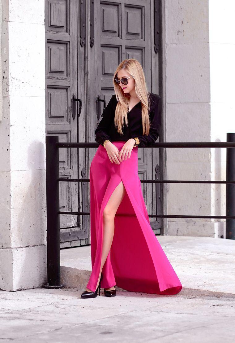 "Foto: Reprodução / <a href=""http://www.ohmyvogue.com/2015/02/black-silk-pink-silk-2.html"" target=""_blank"">Oh My Vogue</a>"