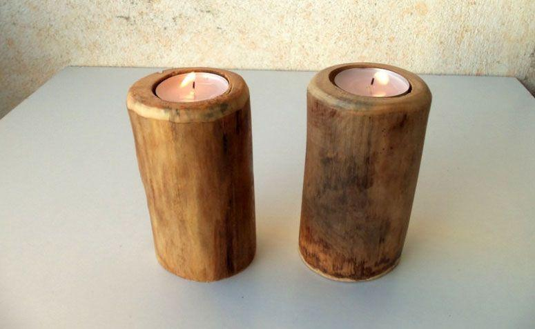 "2 suportes para vela em madeira por R $ 46,32 no <a href=""https://www.etsy.com/pt/listing/195118050/2-wood-candle-holders-table-centerpiece?ref=sr_gallery_31&ga_search_query=centerpiece&ga_page=7&ga_search_type=all&ga_view_type=gallery"" target=""_blank"">Etsy</a>"