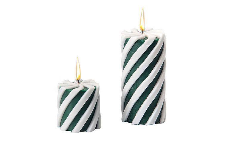 blanco y verde velas de Navidad para $ 44.10 en los EE.UU.