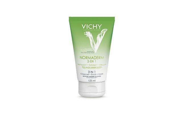 """Vichy Normaderm Loção Limpeza e Esfoliação Facial 3 em 1 por R$49,99 no <a href=""""http://www.emporiocharm.com.br/vichy-normaderm-locao-limpeza-esfoliacao-facial-125ml/"""" target=""""_blank"""">Emporio Charm</a>"""