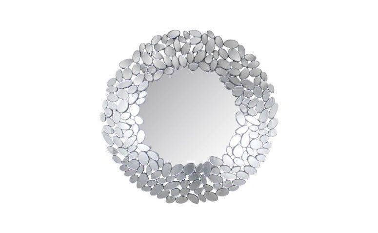 """Espelho redondo grigio por R$ 3.204,00 na <a href=""""http://www.mariapiacasa.com.br/espelho-decorativo-redondo-grigio-38-770.html"""" target=""""_blank"""">Maria Pia Casa</a>"""