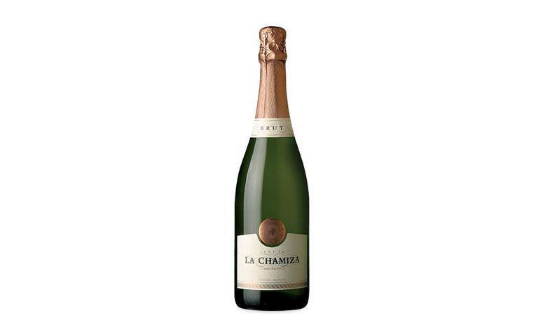 "Espumante La Chamiza Brut por R$39,00 na <a href=""https://www.wine.com.br/prod11610.html"" target=""blank_"">Wine</a>"