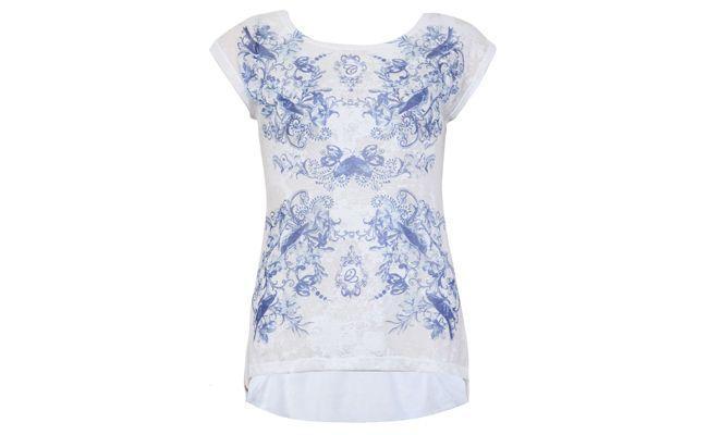 Carmine porcelaine blanche blouse R 136 $ en Dafiti