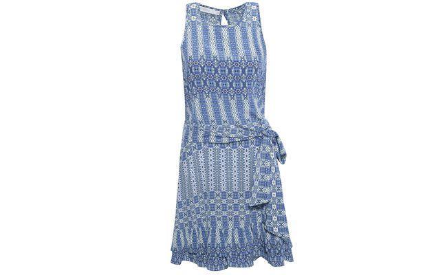 Robe en soie bleu carreaux Ateen par R 858 $ en OQVestir