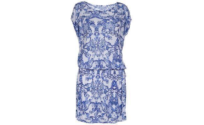 robe blanche et bleu estampillés Clark & R 388 Nanni $ en Farfetch