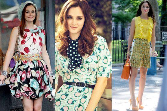 A atriz Leighton Meester aderiu a moda das estampas de frutas com peças pra lá de coloridas e charmosas