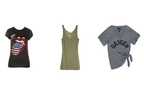 Camisas e regatas de tecido leve caem bem no visual para shows.