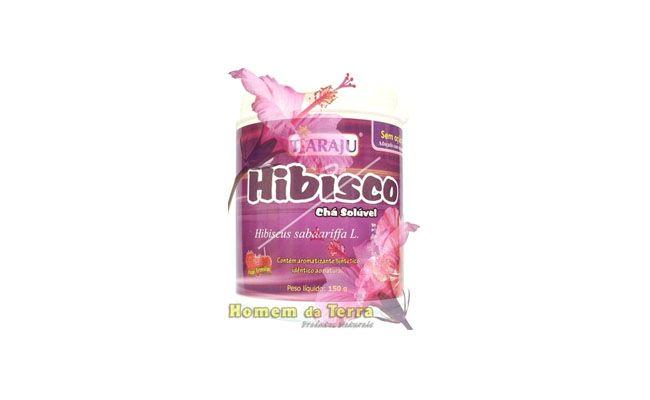 "Chá de hibisco por R$17,90 na <a href=""http://www.homemdaterra.com.br/cha-de-hibisco-soluvel-tiaraju-150gr-p66164/"" target=""blank_"">Homem da Terra</a>"