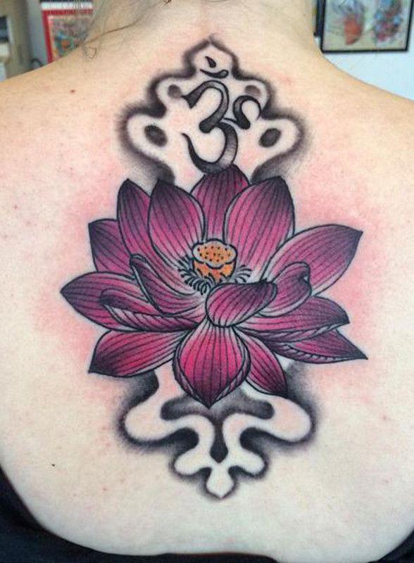 tatuagem de Flor de Lótus roxo