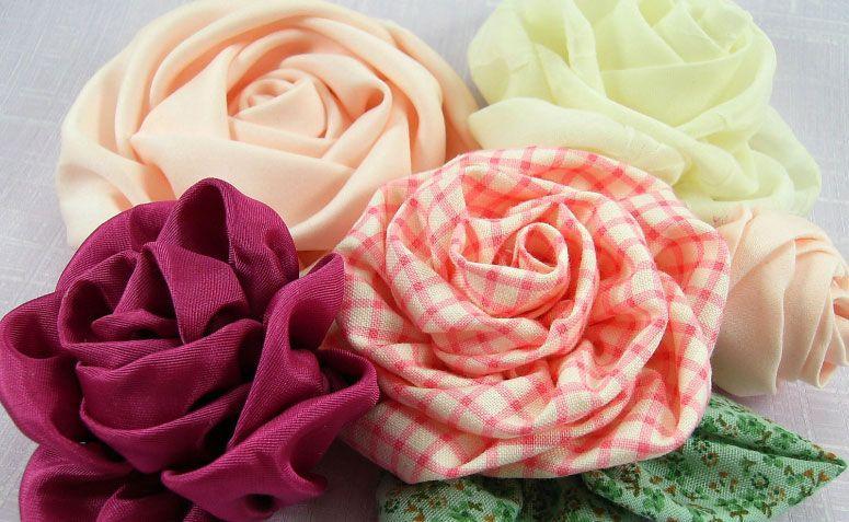 Flores de tecido  passo a passo e inspirações criativas 664d5227734