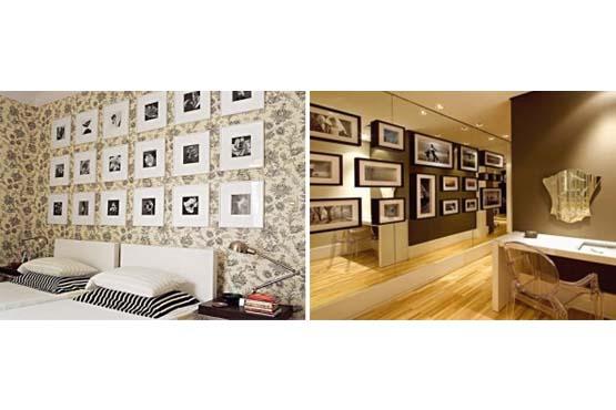 Decore seu quarto ou uma parede de corredor com fotos da família.