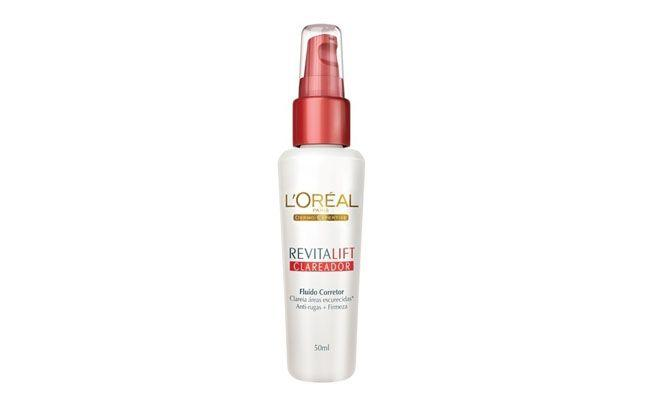 "L'oreal Revitalift Clareador por R$58,90 na <a href=""http://www.laffayette.com.br/produto/clareador-de-manchas-loreal-revitalift-fluido-corretor-50ml.html"" target=""blank_"">Laffayette</a>"