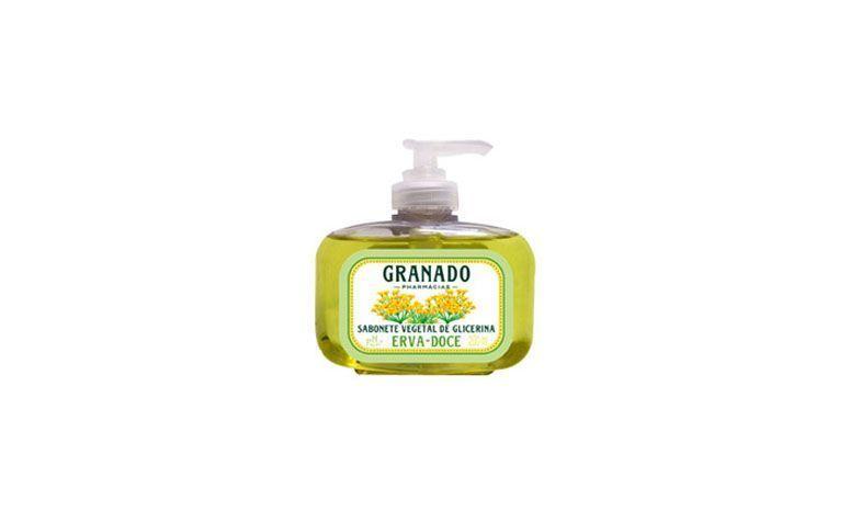 "Sabonete líquido de glicerina Granado por R$10,48 na <a href=""http://www.ultrafarma.com.br/produto/detalhes-7062/promocoes_ultrafarma.html"" target=""blank_"">Ultrafarma</a>"