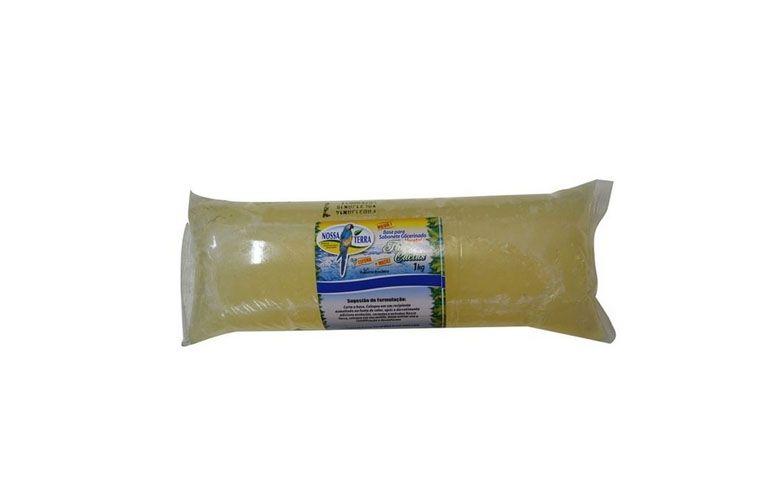 """Base de Glicerina Vegetal para Sabonete por R$9,60 na <a href=""""http://www.sabaoeglicerina.com.br/base-de-glicerina-vegetal-para-sabonete-de-glicerina-flor-de-cactus-transparente-kg-p5265522"""" target=""""blank_"""">Sabão e Glicerina</a>"""