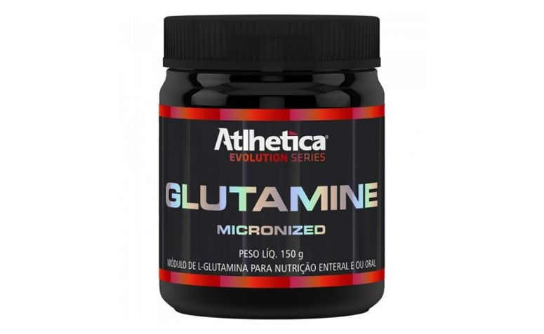 "Glutamine Atlhetica Evolution por R$52,79 na <a href=""http://www.szone.com.br/glutamine-micronized-150g-atlhetica-evolution?gclid=CLjrjLSt1sQCFcQbgQod33wARw"" target=""blank_"">Szone</a>"