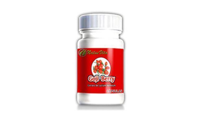 "Goji Berry + Vitamina C (60 Cápsulas) por R$54,50 (2 frascos) na <a href=""http://www.natusvita.com.br/sistema/ListaProdutos.asp?IDLoja=13089&IDProduto=3568923"" target=""blank_"">Natus Vita</a>"