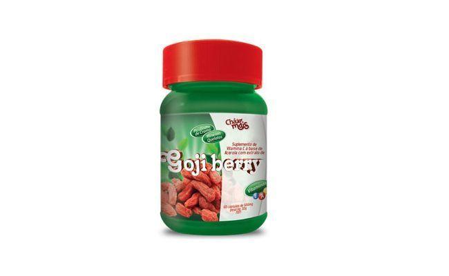 """Goji Berry em cápsulas Chá Mais por R$39,90 na <a href=""""http://www.naturalecompanhia.com.br/ecommerce_site/produto_5658_7440_Goji-Berry-em-capsulas-Cha-Mais"""" target=""""blank_"""">Natural e Companhia</a>"""