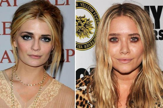 Mischa Barton e Mary-Kate Olsen erraram no lápis para delinear os olhos e ficaram com a aparência cansada