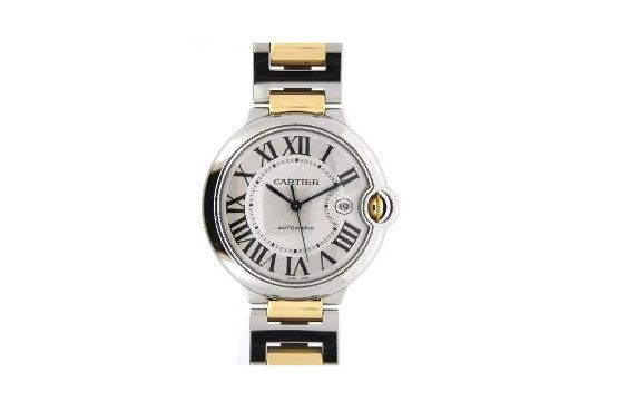 Relógio da Cartier de ouro, aço e vidro de safira. R$15.154, na chrono24.com.br. Foto: Reprodução.