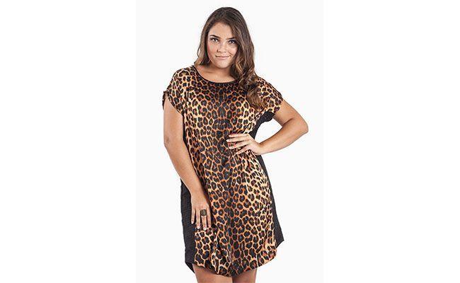 "Vestido de estampa de oncinha por R$259,90 na <a href=""https://www.olook.com.br/vestido-onca-furinho-lateral-1578024001"" target=""blank_"">Olook</a>"