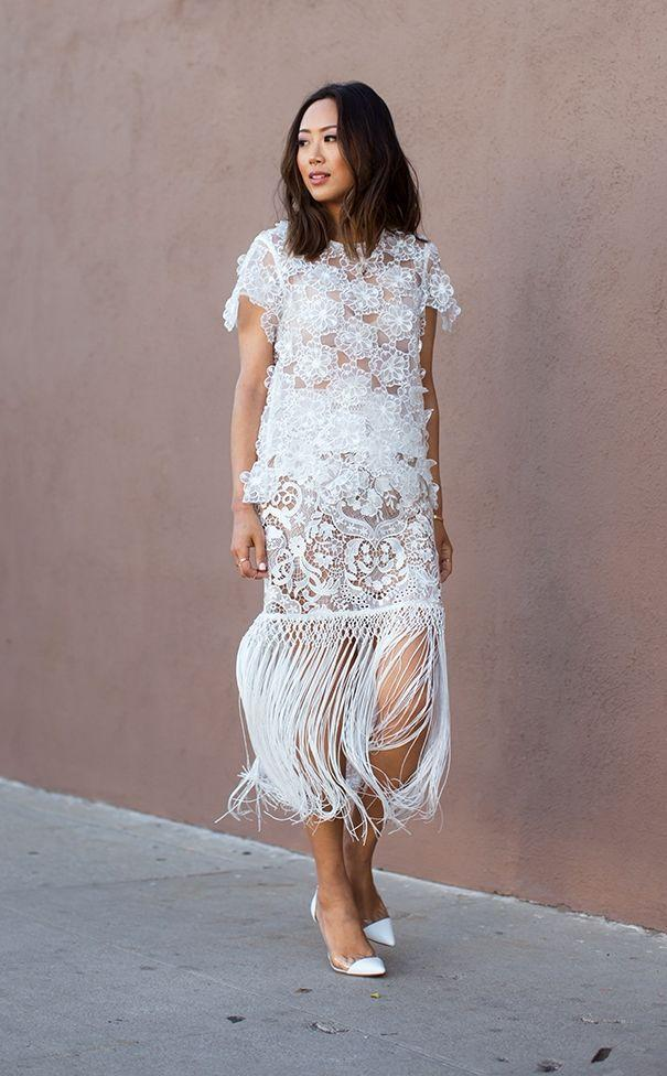 """Foto: Reprodução / <a href=""""http://www.songofstyle.com/2015/03/spring-whites-in-self-portrait.html"""" target=""""_blank"""">Song of Style</a>"""