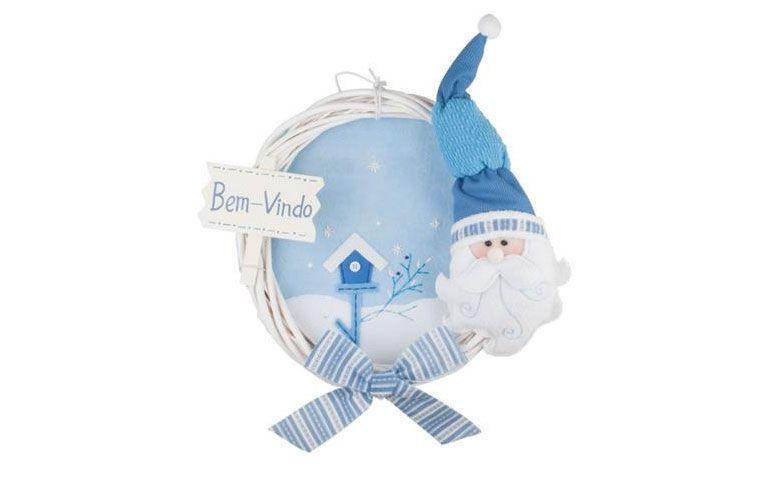 guirnalda azul de Santa Claus por $ 58.14 en extra