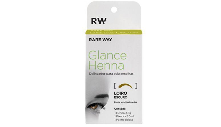 """Henna Rare Way por R$30,00 na <a href=""""https://cdlcenter.com/glance-henna-rare-way-delineador-para-sobrancelhas-castanho-claro/produto/20531-26750-0"""" target=""""blank_"""">CDL Center</a>"""