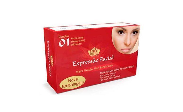 """Henna Expressão Facial por R$30,90 nas <a href=""""http://www.lojasrede.com.br/produto/Henna-Castanho-Claro-Expressao-Facial-125225"""" target=""""blank_"""">Lojas Rede</a>"""