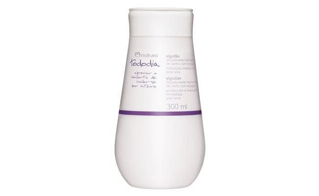 """Hidratante de Banho TodoDia Natura por R$31,80 na <a href=""""http://www.natura.com.br/nossasmarcas/tododia/algodao/38518-desodorante-hidratante-de-banho-algodao"""" target=""""blank_"""">Netfarma</a>"""