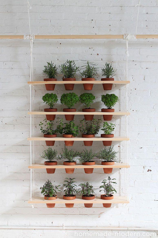 "Foto: Reprodução / <a href=""http://homemade-modern.com/ep29-hanging-garden/"" target=""_blank"">HomeMade Modern</a>"