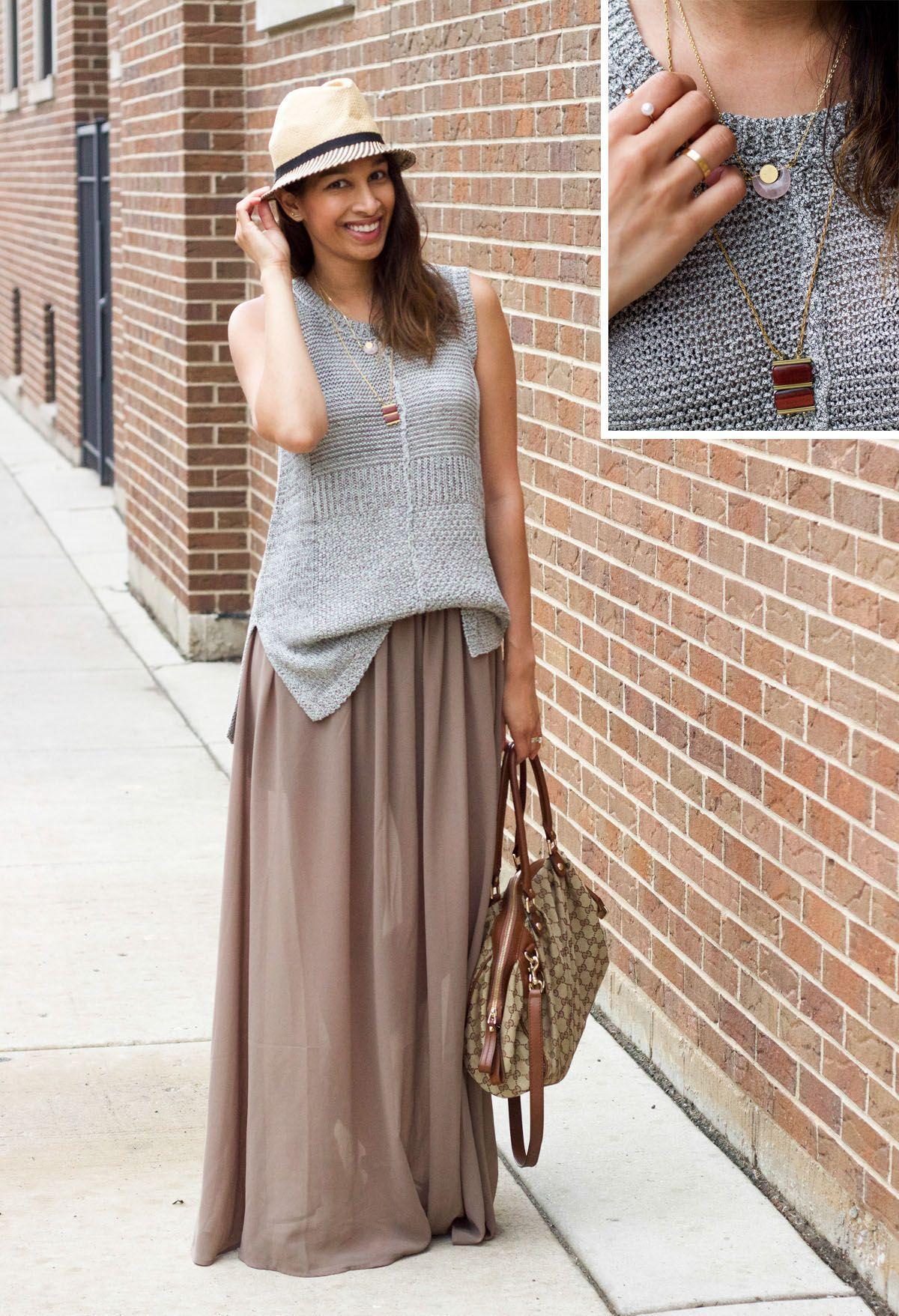 "Foto: Reprodução / <a href=""http://www.lowstoluxe.com/maxi-skirt-2/"" target=""_blank"">Lows to Luxe</a>"