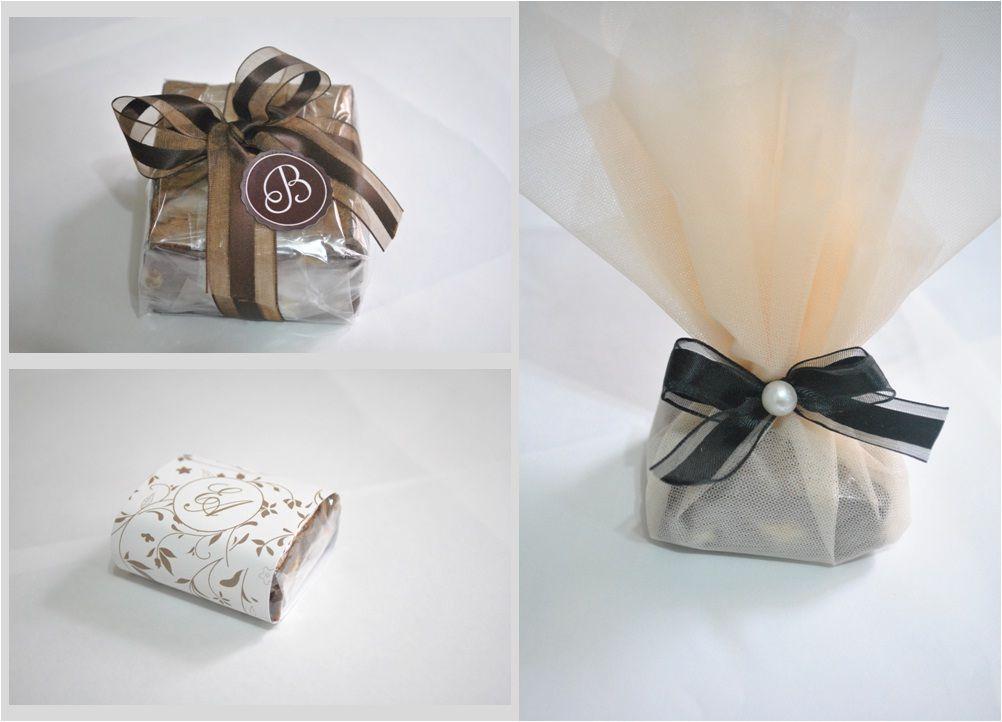 """Brownies em embalagem customizada Foto: Reprodução / <a href=""""http://casandoembh.com.br/brownie-da-bomb/"""" target=""""_blank"""">Casando em BH</a>"""