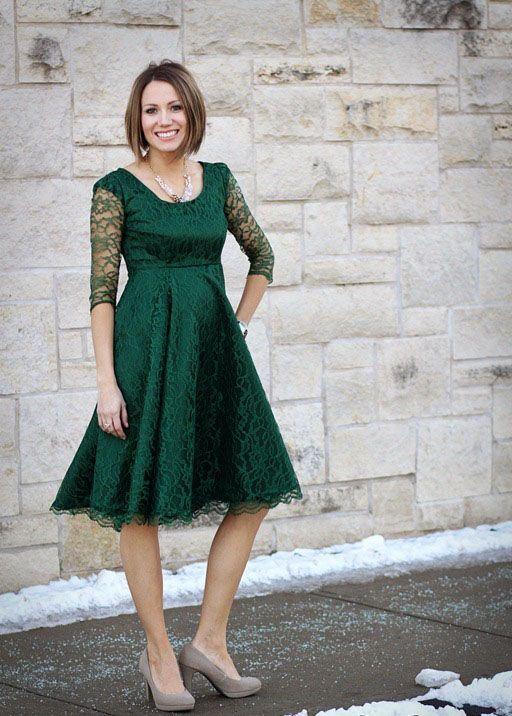 """Foto: Reprodução / <a href=""""http://www.onelittlemomma.com/2012/12/emerald-lace.html"""" target=""""_blank"""">ONE little MOMMA</a>"""