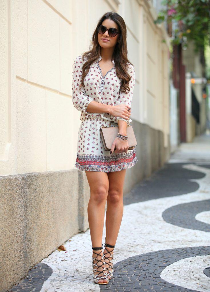 """Foto: Reprodução / <a href=""""http://camilacoelho.com/2013/12/17/look-do-dia-mistura-de-estampas/"""" target=""""_blank"""">Camila Coelho</a>"""