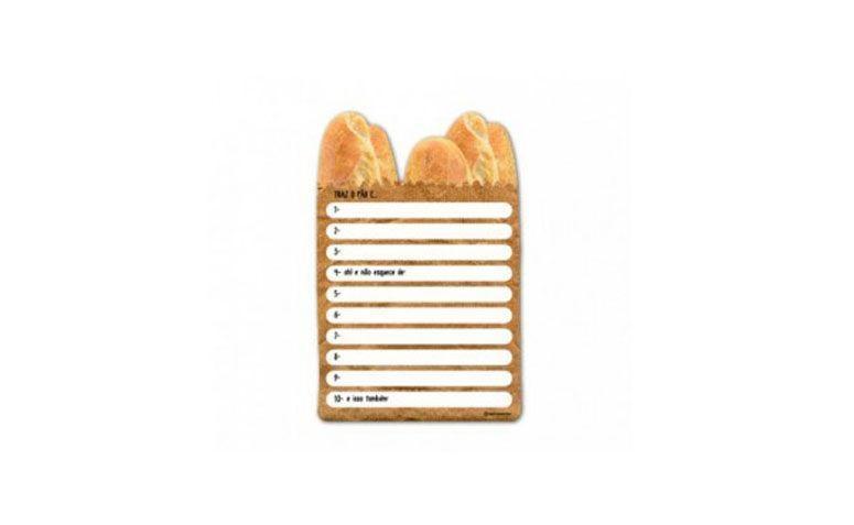 """Lista de compras magnética por R$55,00 na <a href=""""http://www.mkmania.com.br/cozinha/utilitarios/lista-de-compras-magnetica-saco-de-p-o.html"""" target=""""blank_"""">MK Mania</a>"""