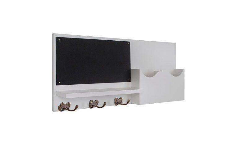 """Porta-cartas com quadro negro por R$169,00 na <a href=""""https://www.meumoveldemadeira.com.br/produto/porta-cartas-com-quadro-negro-recado-branco-laqueado"""" target=""""blank_"""">Meu móvel de madeira</a>"""