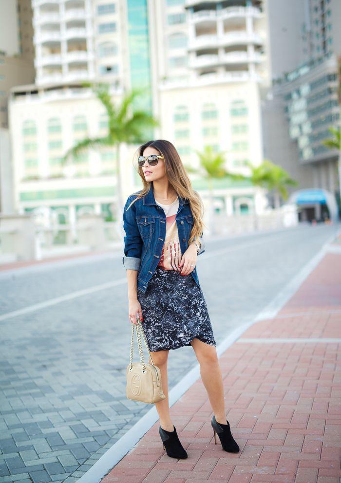 "Foto: Reprodução / <a href=""http://thegirlfrompanama.com/printed-skirt/"" target=""_blank"">The Girl From Panama</a>"