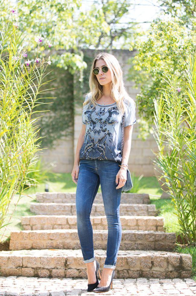 """Foto: Reprodução / <a href=""""http://www.glam4you.com/meu-look-jeans-perfeito/"""" target=""""_blank"""">Glam4you</a>"""