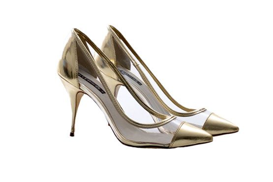 <p>Scarpin dourado com transparência - Mixed para a C&A por R$99 na Loja C&A. </p>