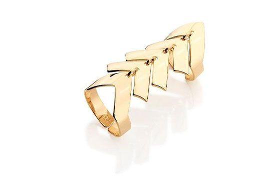 <p>Anel dourado - Rommanel por R$199.</p>