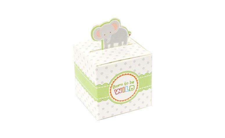"""Caixinha de papel Elefante (12 unidades) por R$9,00 na <a href=""""http://www.mzdecoracoes.com.br/produto/Caixinha-de-Papel-Elefante-c-12-unidades-70579"""" target=""""blank_"""">MZ Decorações</a>"""