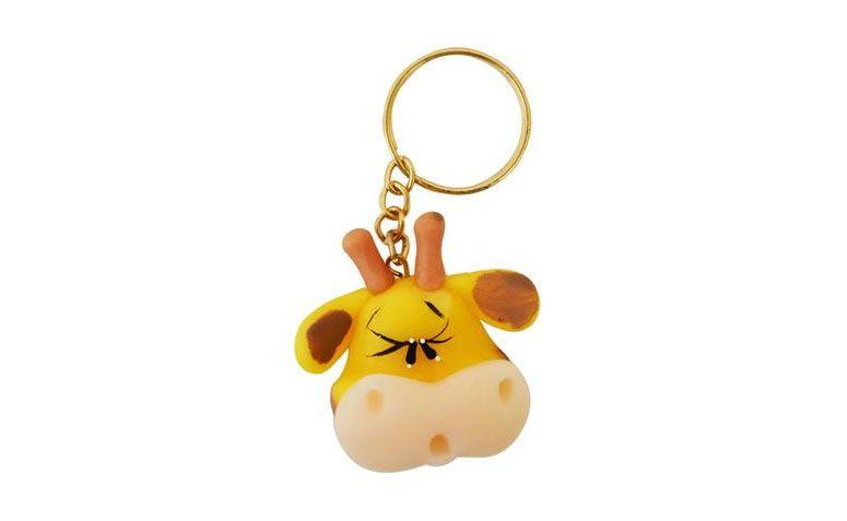 """Chaveiro de biscuit (10 unidades) por R$29,90 na <a href=""""http://www.mzdecoracoes.com.br/produto/Lembrancinha-Maternidade-e-Cha-de-Bebe-Chaveiro-Biscuit-Girafa-c-10-unidades-71845"""" target=""""blank_"""">MZ Decorações</a>"""