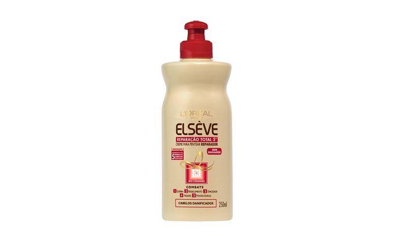"Leave-in Elseve Reparação Total por R$9,99 na <a href=""http://www.lojasrede.com.br/produto/Creme-De-Pentear-Elseve-Reparacao-Total-5-250ml-125835"" target=""blank_"">Lojas Rede</a>"