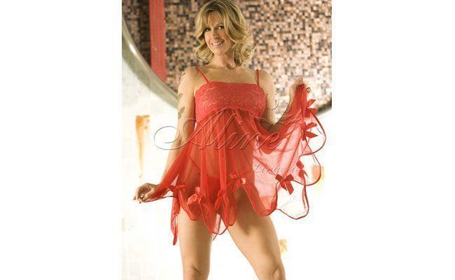"""Conjunto com camisola Pedaço de Malícia por R$59,90 no <a href=""""http://www.desejossexy.com.br"""" target=""""blank"""">Desejos Sex Shop</a>"""